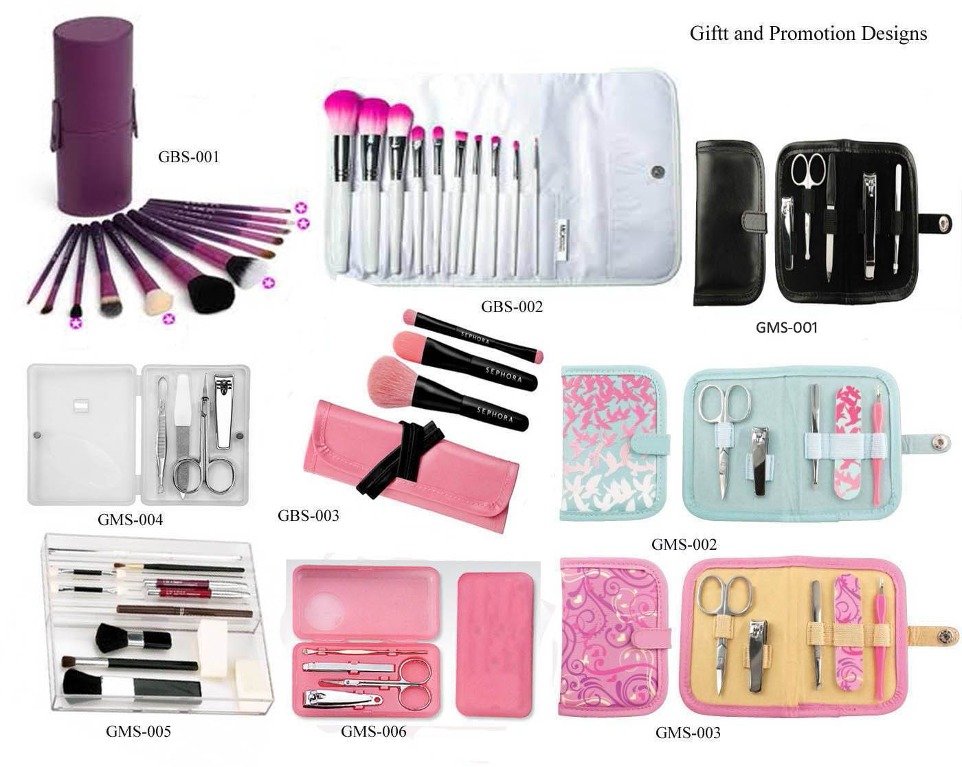 Brush And Manicure Gift Set Oem Factory For Christmas